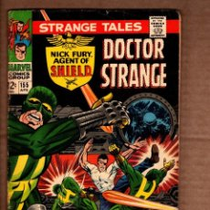 Comics: STRANGE TALES 155 - MARVEL 1967 VG- / SHIELD / DOCTOR STRANGE / STAN LEE / JIM STERANKO. Lote 243036095