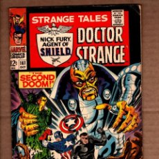 Comics: STRANGE TALES 161 - MARVEL 1967 FN / SHIELD/ CAPTAIN AMERICA / DOCTOR STRANGE / JIM STERANKO. Lote 243037320