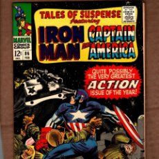 Comics: TALES OF SUSPENSE 86 - MARVEL 1967 VFN / IRON MAN / CAPTAIN AMERICA / STAN LEE / COLAN / JACK KIRBY. Lote 243039290