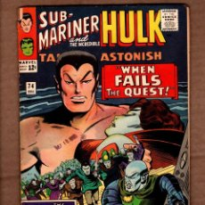 Comics: TALES TO ASTONISH 74 - MARVEL 1965 VG- / SUB-MARINER / HULK / STAN LEE / JACK KIRBY. Lote 243040900