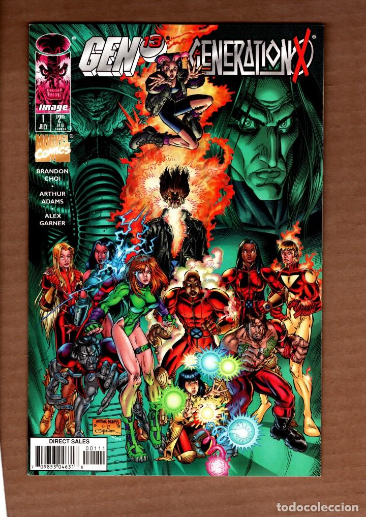 Cómics: GEN 13 / GENERATION-X - IMAGE / MARVEL 1997 VFN/NM VARIANT COVER / BRANDON CHOI & ARTHUR ADAMS - Foto 1 - 244653115
