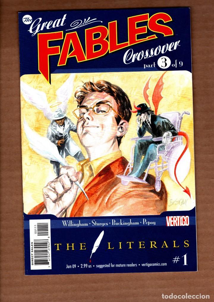 GREAT FABLES CROSSOVER : THE LITERALS 1 - DC VERTIGO 2009 VFN/NM / BILL WILLINGHAM (Tebeos y Comics - Comics Lengua Extranjera - Comics USA)