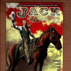 Cómics: JACK OF FABLES 22 - DC VERTIGO 2008 VFN/NM / BILL WILLINGHAM. Lote 244655285