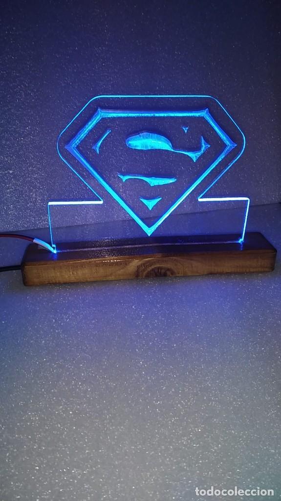 CUADRO LÁMPARA LED LUMINOSO SUPERMAN SUPER MAN (Tebeos y Comics - Comics Lengua Extranjera - Comics USA)