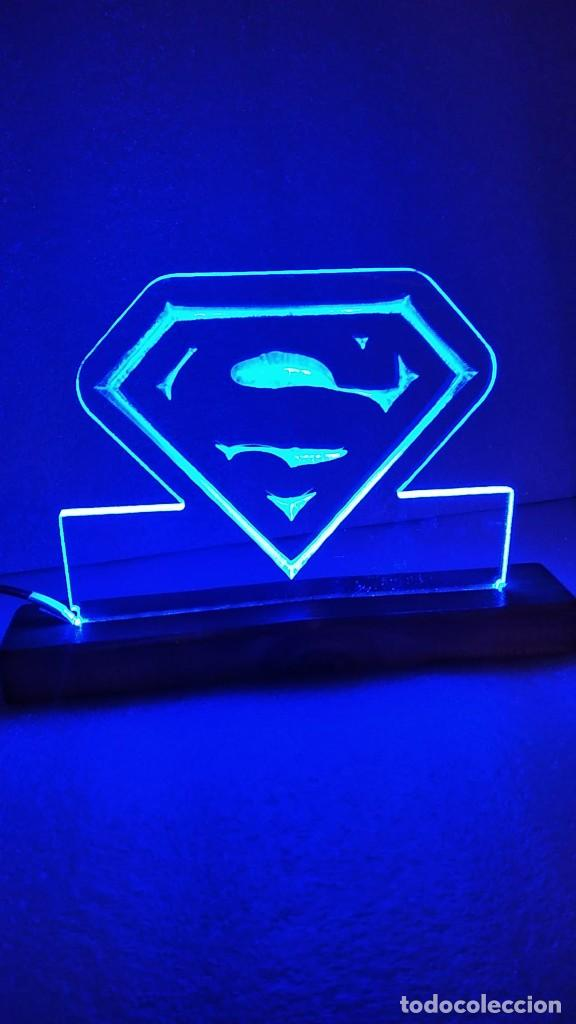 Cómics: Cuadro Lámpara led luminoso SUPERMAN Super man - Foto 2 - 246016840