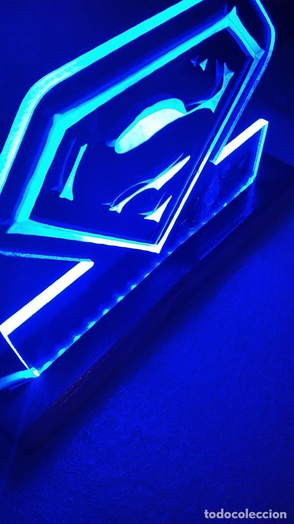 Cómics: Cuadro Lámpara led luminoso SUPERMAN Super man - Foto 3 - 246016840