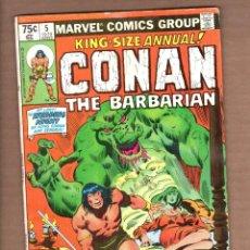 Cómics: CONAN THE BARBARIAN ANNUAL 5 - MARVEL 1979 VG+ / ROY THOMAS & JOHN BUSCEMA / CONAN WEDDING NIGHT. Lote 246080120