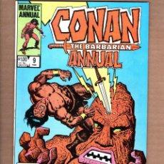 Cómics: CONAN THE BARBARIAN ANNUAL 9 - MARVEL 1984 VFN. Lote 246081455