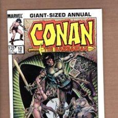 Cómics: CONAN THE BARBARIAN ANNUAL 10 - MARVEL 1986 VFN/NM. Lote 246081860