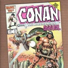 Cómics: CONAN THE BARBARIAN ANNUAL 11 - MARVEL 1986 VFN/NM. Lote 246082380