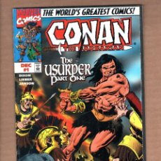 Cómics: CONAN THE BARBARIAN : THE USURPER 1 - MARVEL 1997 VFN. Lote 246121095