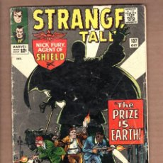Cómics: STRANGE TALES 137 - MARVEL 1965 G/VG / SHIELD / DOCTOR STRANGE / LEE / KIRBY / DITKO. Lote 246122260