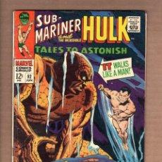 Cómics: TALES TO ASTONISH 92 - MARVEL 1967 VG/FN / NAMOR SUB-MARINER / INCREDIBLE HULK. Lote 246131970