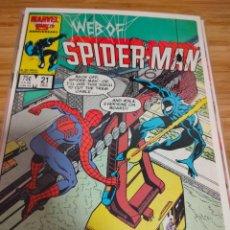 Cómics: WEB OF SPIDER MAN 21 VOL 1 MARVEL SPIDERMAN (1985 SERIES). Lote 246192760