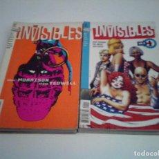 Cómics: THE INVISIBLES - VOLUMEN 1 + VOLUMEN 2 - COMPLETOS - GRANT MORRISON - BUEN ESTADO - CJ 31. Lote 246216830