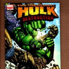 Cómics: INCREDIBLE HULK DESTRUCTION 4 - MARVEL 2005 VFN+ / PETER DAVID. Lote 249183775