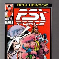 Cómics: PSI FORCE 3 - MARVEL NEW UNIVERSE 1986 VFN-. Lote 252589240