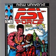 Cómics: PSI FORCE 6 - MARVEL NEW UNIVERSE 1987 VFN. Lote 252589520
