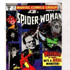 Cómics: SPIDER-WOMAN 32 - MARVEL 1980 VFN- / WEREWOLF / MILLER COVER. Lote 252613105