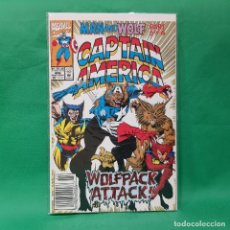 Cómics: CAPTAIN AMERICA 406 - MARVEL 1992 / VFN / WOLFPACK ATTACK / MAN AND WOLF PART.5. Lote 254460205