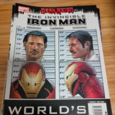 Cómics: THE INVINCIBLE IRON MAN 9 2008 SERIES MARVEL FRACTION LARROCA. Lote 254840755
