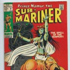 Cómics: NAMOR THE SUBMARINER Nº 9 (ENERO 1969) . ORIGINAL MARVEL. BUEN ESTADO. Lote 257279925