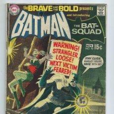 Cómics: BATMAN : THE BRAVE AND THE BOLD Nº 91 (197). BATMAN - JBLACK CANARY. ORIGINAL DC. BUEN ESTADO. Lote 257281525