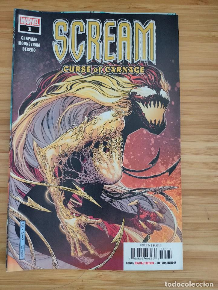 SCREAM CURSE OF CARNAGE 1 (Tebeos y Comics - Comics Lengua Extranjera - Comics USA)