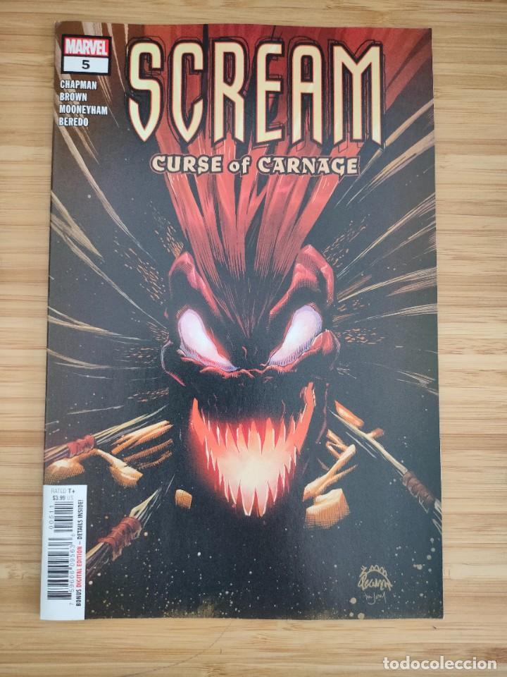 SCREAM CURSE OF CARNAGE 5 MARVEL (Tebeos y Comics - Comics Lengua Extranjera - Comics USA)
