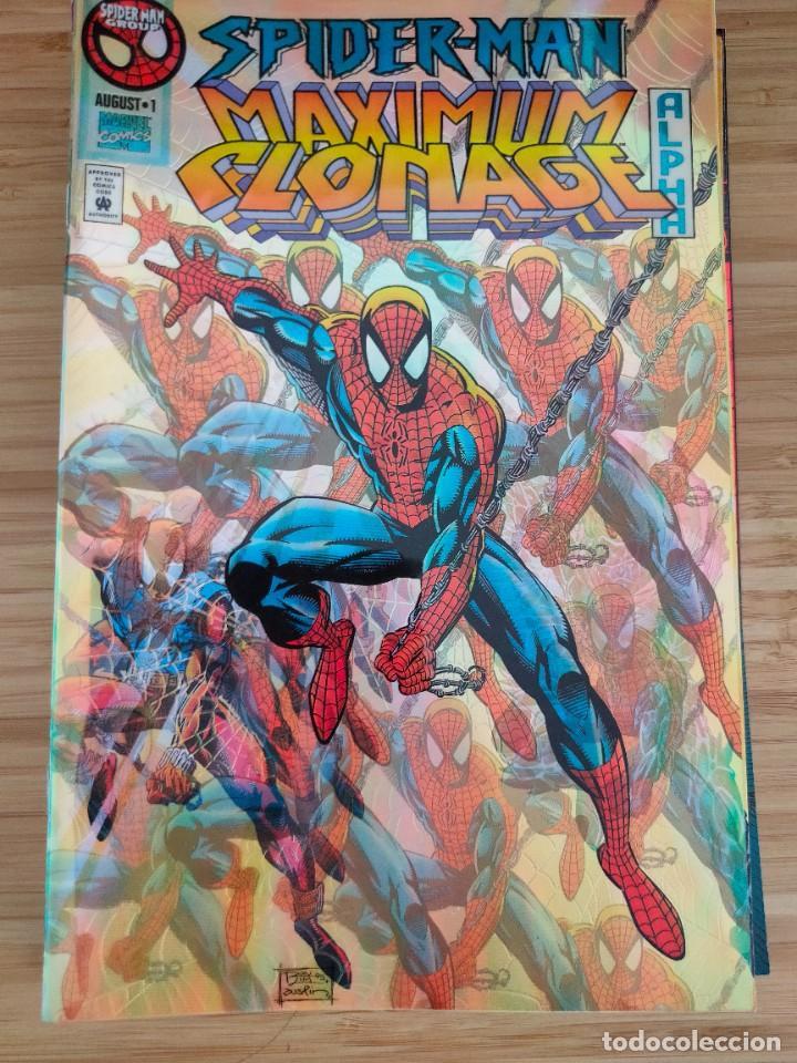 SPIDER MAN MAXIMUM CLONAGE ALPHA MARVEL ACETATE COVER (Tebeos y Comics - Comics Lengua Extranjera - Comics USA)