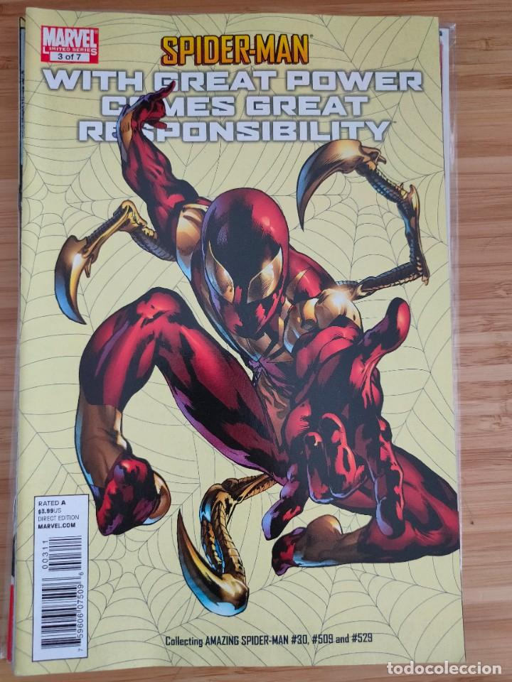 SPIDER MAN WITH GREAT POWER COMES GREAT RESPONSIBILITY 3 MARVEL (Tebeos y Comics - Comics Lengua Extranjera - Comics USA)