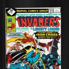 Fumetti: INVADERS 37 - MARVEL 1979 FN/VFN / LIBERTY LEGION / 1ST LADY LOTUS. Lote 260327935
