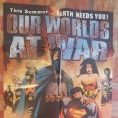 Cómics: POSTER PROMOCIONAL - OUR WORLDS AT WAR - DC COMICS - SUPERMAN, BATMAN, WONDER WOMAN - 2001 - JAE LEE. Lote 262583105