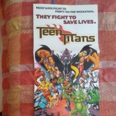 Cómics: POSTER PROMOCIONAL - TEEN TITANS - DC COMICS - COMIC BOOK PROMO GEOFF JOHNS ROBIN FLASH CYBORG. Lote 262894450