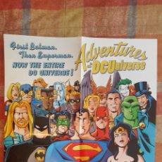 Cómics: POSTER PROMOCIONAL - ADVENTURES IN THE DC UNIVERSE - DC COMICS - 1997 - SUPERMAN, BATMAN, W. WOMAN. Lote 262900035