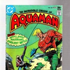 Cómics: AQUAMAN 58 - DC 1977 VG/FN / DAVID MICHELINIE & JIM APARO / ORIGIN. Lote 262918230