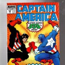 Cómics: CAPTAIN AMERICA 350 MARVEL 1989 VFN GIANT SIZE ANNIVERSARY / STEVE ROGERS VS JOHN WALKER. Lote 277421883