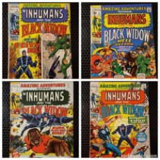 Cómics: COMICS - AMAZING ADVENTURES 5, 6, 7 Y 8 - NEAL ADAMS INHUMANS & BLACK WIDOW - MARVEL COMICS -1970. Lote 129355175