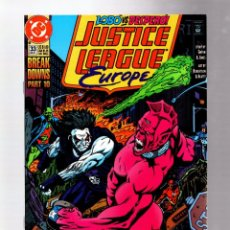 Cómics: JUSTICE LEAGUE EUROPE / INTERNATIONAL 33 - DC 1991 VFN- / LOBO VS DESPERO / 1ST SONIC (INSERT). Lote 265509994
