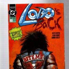 Comics : LOBOS BACK 1 - DC 1991 VFN/NM 1ST EDITION / CON TRES PORTADAS DIFERENTES. Lote 265962983
