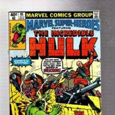 Cómics: MARVEL SUPER HEROES 85 / INCREDIBLE HULK 133 - MARVEL 1979 VFN. Lote 266128488