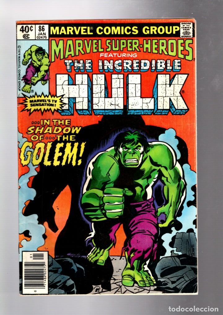 MARVEL SUPER HEROES 86 / INCREDIBLE HULK 134 - MARVEL 1980 FR (Tebeos y Comics - Comics Lengua Extranjera - Comics USA)