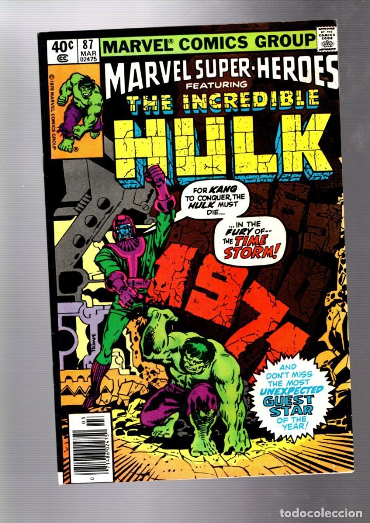 MARVEL SUPER HEROES 87 / INCREDIBLE HULK 135 - MARVEL 1980 VFN / KANG (Tebeos y Comics - Comics Lengua Extranjera - Comics USA)