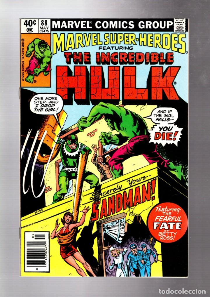 MARVEL SUPER HEROES 88 / INCREDIBLE HULK 138 - MARVEL 1980 VFN+ / VS SANDMAN (Tebeos y Comics - Comics Lengua Extranjera - Comics USA)