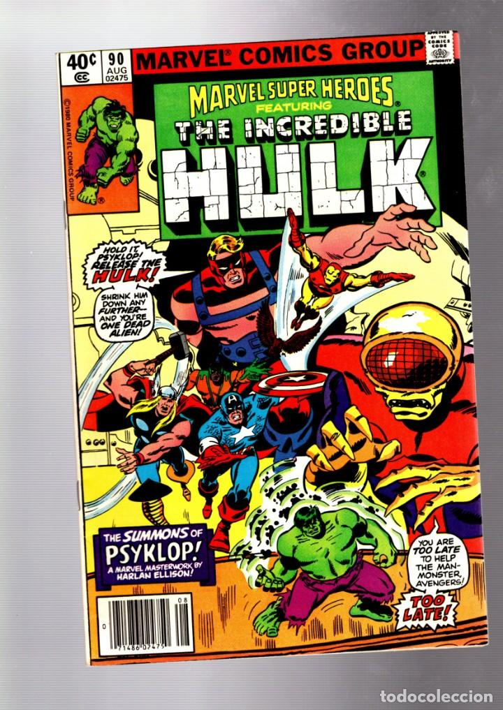 MARVEL SUPER HEROES 90 / AVENGERS 88 - MARVEL 1980 VFN+ / HULK / HARLAN ELLISON & SAL BUSCEMA (Tebeos y Comics - Comics Lengua Extranjera - Comics USA)