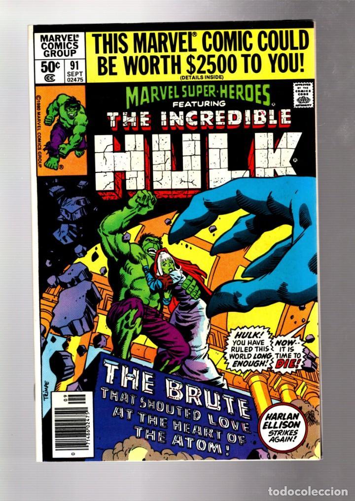 MARVEL SUPER HEROES 91 / INCREDIBLE HULK 140 - 1980 VFN+ / HARLAN ELLISON / JARELLA (Tebeos y Comics - Comics Lengua Extranjera - Comics USA)