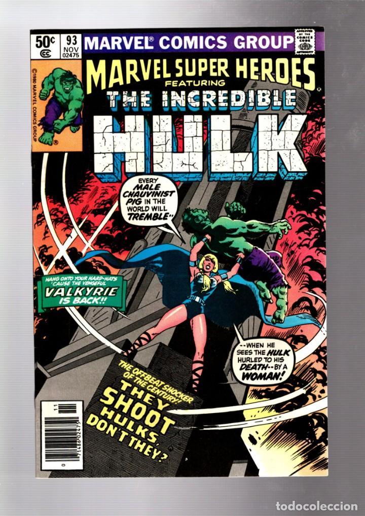 MARVEL SUPER HEROES 93 / INCREDIBLE HULK 142 - 1980 VFN+ / 1ST VALKYRIE (Tebeos y Comics - Comics Lengua Extranjera - Comics USA)