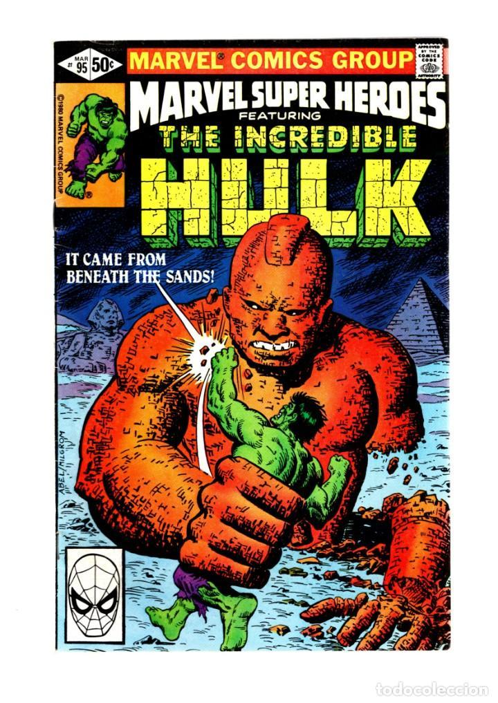 MARVEL SUPER HEROES 95 / INCREDIBLE HULK 146 - 1980 FN/VFN (Tebeos y Comics - Comics Lengua Extranjera - Comics USA)