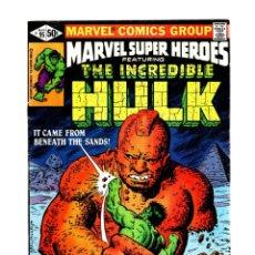 Cómics: MARVEL SUPER HEROES 95 / INCREDIBLE HULK 146 - 1980 FN/VFN. Lote 266205828