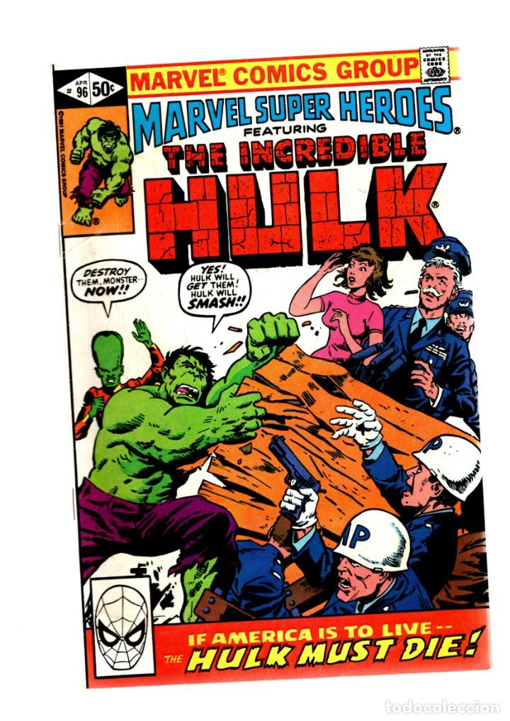 MARVEL SUPER HEROES 96 / INCREDIBLE HULK 147 - 1980 FN/VFN (Tebeos y Comics - Comics Lengua Extranjera - Comics USA)